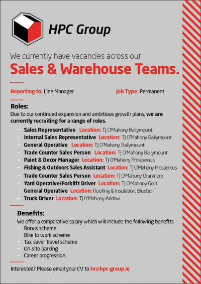 Sales & Warehouse Positions